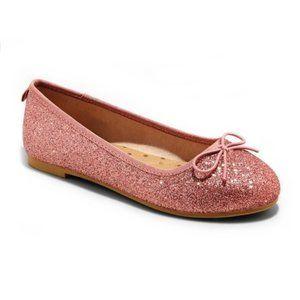 NWT Cat & Jack Girls' Glitter Slip-On Ballet Flats